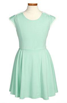 W Girl Crochet Back Skater Dress (Big Girls) available at #Nordstrom.. One more for Annabel