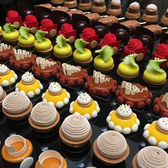 Guess who will be teaching as a guest chef at Savour in who created these stunning petit gateau for his class in… Mini Cakes, Cupcake Cakes, Patisserie Fine, Petit Cake, Decoration Patisserie, Individual Cakes, Pastry Art, Fancy Desserts, Gourmet Desserts