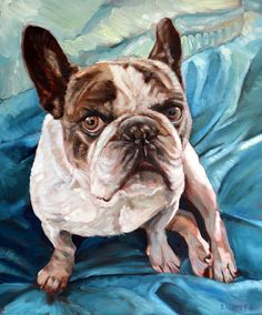 Chubba the old Boston Terrier. Another custom dog painting from David Kennett at www.bffpetpaintings.com