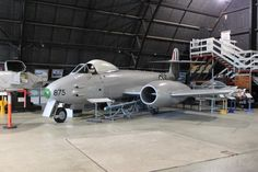 Fighter World Gloster Meteor.15 May 1941 the experimental Gloster E28/39 made 1st flight by British jet-propelled aircraft & on 5 March 1943 Gloster Meteor became Royal Air Force's 1st operational jet aircraft.In 1951 Meteors made their mark in RAAF history when went into action with 77Sqdn in Korea.Armed with 4 20-mm Hispano cannons;8 27kg(60lb)rockets or 454kg(1000lb)bomb load.A77-875 delivered to RAAF on 11 May 1953.Possibly used for ground instruction & later served with 77Sqn.