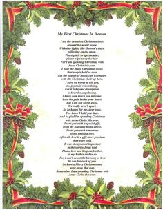 christmas in heaven poem | MY SON'S FIRST CHRISTMAS IN - IN MY SON'S MEMORY