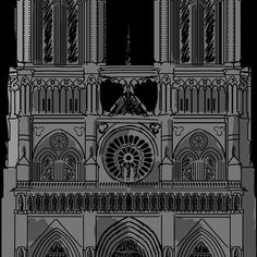 'Paris Notre Dame' by Framed Prints, Canvas Prints, Cool Stickers, Long Hoodie, Laptop Sleeves, Cool T Shirts, Notre Dame, Chiffon Tops, Classic T Shirts