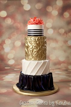 Gold leaf and marble cake cake pinterest for Georges chakra gold wedding dress price