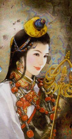 Queen of Wands: China Tarot