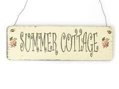 SUMMER COTTAGE Strand Vintage Schild Holz Geschenk von Interluxe via dawanda.com