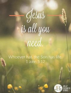 "Many religions and philosophies speak in generalities about how to obtain eternal life, but only Christianity has the answer: ""Whoever has God's Son has life; whoever does not have his Son does not have life"" (1 John 5:12). Jesus is all you need."