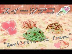 ♥~ スイーツデコ - Realistic Ice Cream Tutorial [[Polymer Clay]] (+playlist)