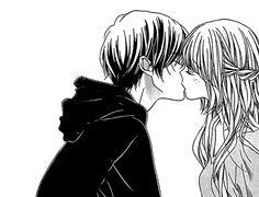 Tired sad little boy, begging for adventure young woman Manga Anime, Art Manga, Anime Couples Manga, Anime Couple Kiss, Couple Manga, Cute Couple Drawings, Cute Couple Art, Romantic Anime Couples, Cute Anime Couples