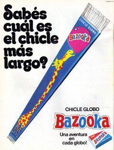 chicle jirafa - Bazooka