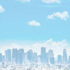 Anime Scenery Wallpaper, Environment Concept, New York Skyline, Cities, Hero, Clouds, Film, Travel, Ideas