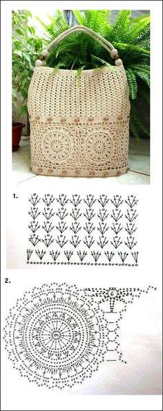 Marvelous Crochet A Shell Stitch Purse Bag Ideas. Wonderful Crochet A Shell Stitch Purse Bag Ideas. Crochet Pouch, Crochet Wool, Crochet Chart, Bead Crochet, Crochet Motif, Crochet Designs, Crochet Stitches, Crochet Bags, Crochet Hearts