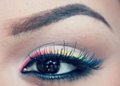 rainbow liner - this would be cute on young teens