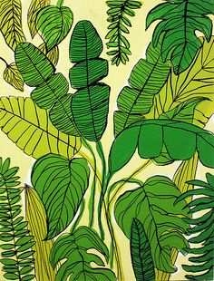 Tropical leaf prints in home decor, fashion and party planning! Take a look through these stunning images and get some tropical leaf inspiration. Motif Tropical, Tropical Leaves, Tropical Prints, Tropical Pattern, Tropical Decor, Textures Patterns, Print Patterns, Stoff Design, Guache