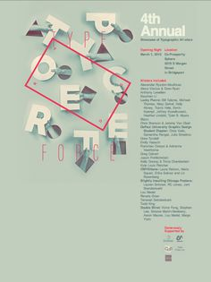 Typeforce 4th Annual Poster