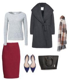 Swetater Vero Moda Coat, scarf Mango Skirt H&M Shoes  Zara Bag New Look  http://personalstylist.pl/