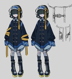 Cute Anime Character, Character Outfits, Character Concept, Character Art, Concept Art, Cute Art Styles, Fashion Design Drawings, Anime Oc, Character Design References