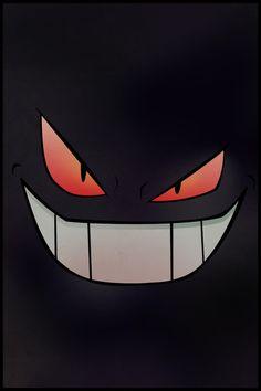 Dark Gengar Pokemon Poster/iPhone - Minimalism Art Art Print