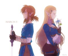 I've been saving a Silent Princess flower to give to Zelda...