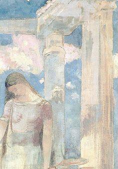 Odilon Redon - Mystical Conversation (Partial Sketch)