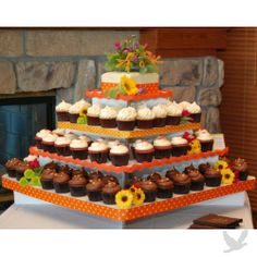Annabel Extra Large Square Cupcake Tower by Koyal Wholesale - Holds 300 Cupcakes $42.99 #wedding #cupcake