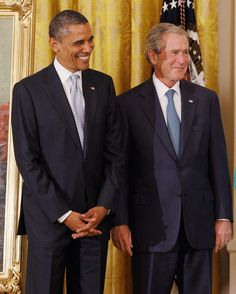 Barack Obama and George W. Bush, it's not politics for me