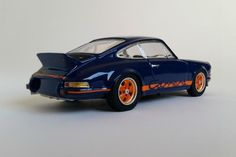 Porsche 911 Carrera RS 2.7 | 1:43-Scale Diecast Model by Spark | Rear Quarter