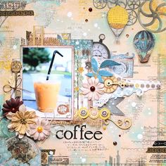 BoBunny Everyday Layouts with designer Kaori Fujimoto featuring the Somewhere In Time collection. Mini Scrapbook Albums, Scrapbook Sketches, Scrapbooking Layouts, Mini Albums, Scrapbook Pages, Somewhere In Time, Layout Inspiration, Vintage World Maps, Paper Crafts