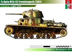 Wehrmacht - Carro FIAT-Ansaldo M15/42 Frendengraet 738 (i)