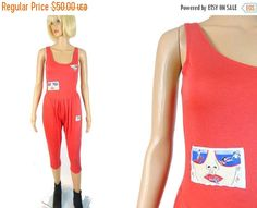 tempSALE 80's Jumpsuit Pop Art ARISTA by MirrorballBoutique