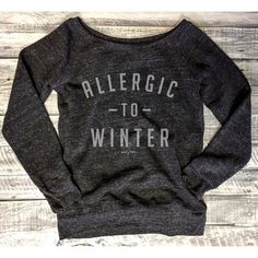 Allergic to Winter Super Soft and Cozy charcoal/grey Sweatshirt... ($42) ❤ liked on Polyvore featuring tops, activewear, grey, women's clothing, gray shirt, off the shoulder shirts, long sleeve pullover shirts, marble top and grey long sleeve shirt