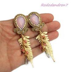 kolczyki,sutasz,soutache,eleganckie,efektowne - Kolczyki - Biżuteria w ArsNeo