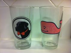 Southern Proper and Vineyard Vines pint glasses I crafted for my frat daddy. Southern Girl Style, Southern Charm, Fun Crafts, Arts And Crafts, Creative Crafts, Total Sorority Move, Mason Dixon Line, Southern Proper, Down South