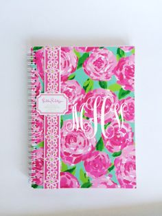 Monogrammed Lilly Pulitzer Notebook by PrettyLettersShop on Etsy, $15.00