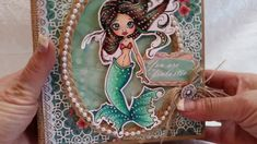 *SOLD* Saturated Canary Mermaid Heartfelt Creations Under the Sea Mini A...
