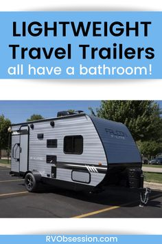 Are you looking to buy a towable camper but want it to be as light as possible (so that you don't have to upgrade your tow vehicle) but still have a bathroom? It makes a lot of sense, and these lightweight travel trailers are great for the budget conscious shopper. Lightweight travel trailers | Travel trailer for sale | Ultralight travel trailers | Small travel trailers Ultra Light Travel Trailers, Lightweight Travel Trailers, Travel Trailers For Sale, Cheap Campers, Airstream Sport, Kz Rv, R Pod, Small Rv, Trailer Plans