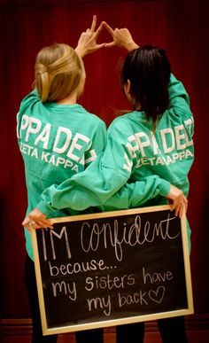 """""""my sisters have my back""""~ Zeta Kappa chapter of Kappa Delta from Ball State University! submitted by:playfulconversation"""