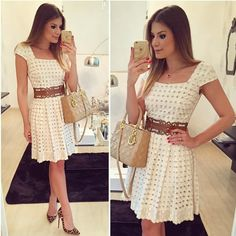Fashion Women Cap Sleeve Short Mini Dress Sexy Hollow Out Cocktail Party Dresses Elegant Midi Dresses, Casual Summer Dresses, Trendy Dresses, Casual Dresses For Women, Nice Dresses, Short Sleeve Dresses, Clothes For Women, Ebay Dresses, Dresses Dresses