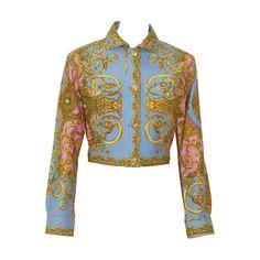 Gianni Versace Baroque Printed Short Jacket Spring 1992 | 1stdibs.com