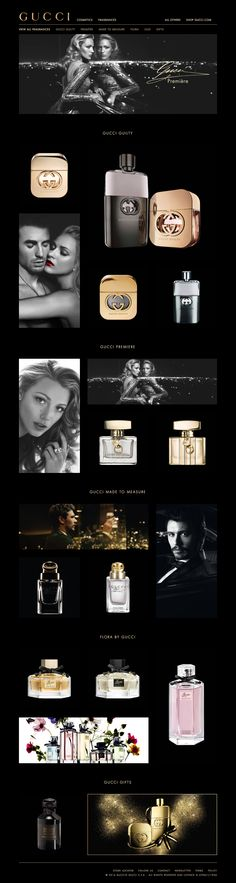 gucci.com beauty & cosmetics web design
