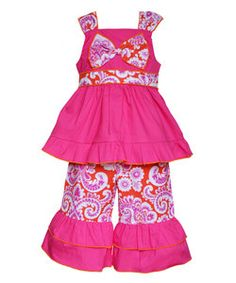 989727d56 AnnLoren Green & Pink Cici Tunic & Pants - Infant. Little Girl OutfitsLittle  ...