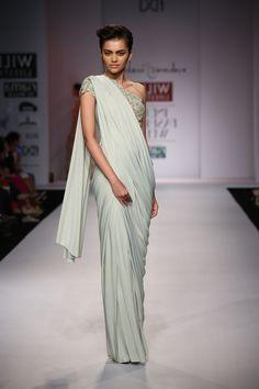 Beautiful Chiffon saree by Rabani and Rakha #fdci #wifw SS14 #saree #indianfashion
