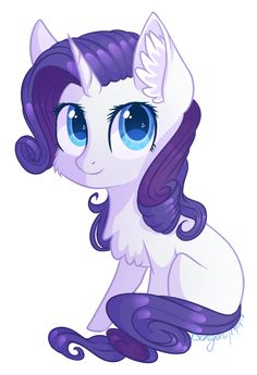 MLP - Chibi Rarity by hazepages on DeviantArt Mlp Rarity, My Little Pony Rarity, Some Beautiful Pictures, Purple Art, Anime Animals, My Little Pony Friendship, Twilight Sparkle, Rainbow Dash, Worlds Of Fun