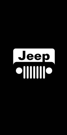 Jeep, car, minimal, logo, dark, 1080x2160 wallpaper