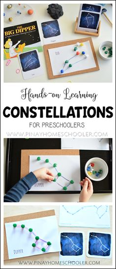 Hands-on Learning of Constellations for Preschoolers montessori #preschool #education #science #learning