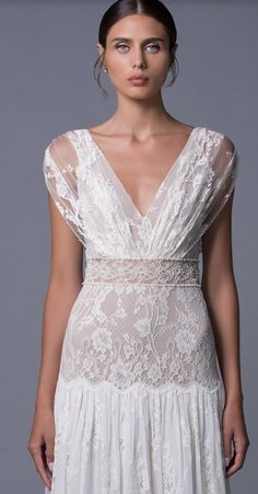 Chic And Unique Floral Lace Embroidered Wedding Dress Featured Lihi Hod