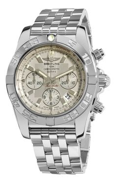 Men watches : Breitling Men's AB011012/G684 Chronomat B01 Silver Chronograph Dial Watch *** Click the link to find out how to get the best deals! www.CashBackATX.com ***