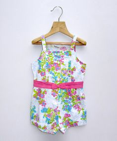 Take a look at this Turquoise Floral Romper - Infant & Toddler by Beebay on #zulily today!