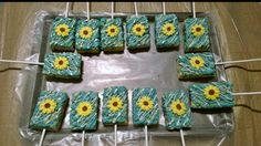 Sunflower/ frozen fever rice krispie pops.