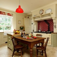 Farmhouse-style country kitchen | Country kitchen design ideas | Kitchen | PHOTO GALLERY | Beautiful Kitchens | Housetohome.co.uk