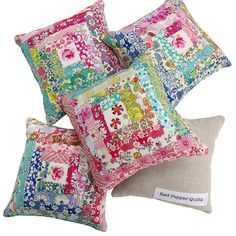 Liberty Tana Lawn Pincushions -- Pillow inspiration